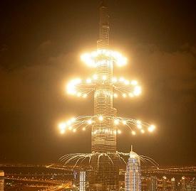 2013哈利法塔跨年烟火