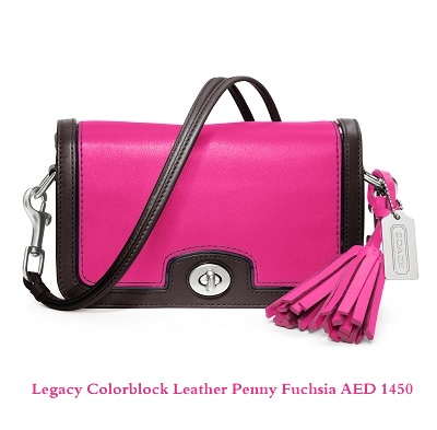 Legacy Colorblock Leather Penny Fuchsia AED 1450
