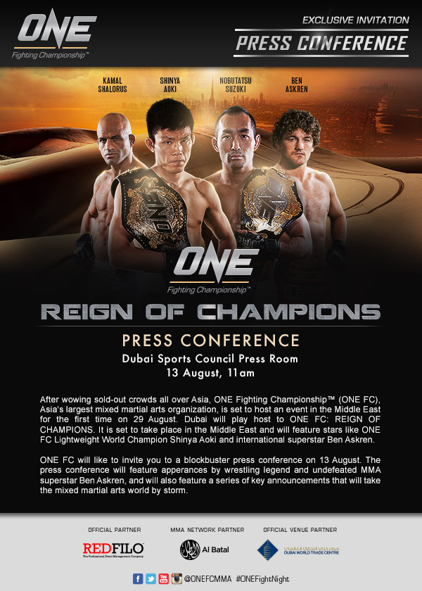 ONE FC -UAE-presscon_ 13 August invite