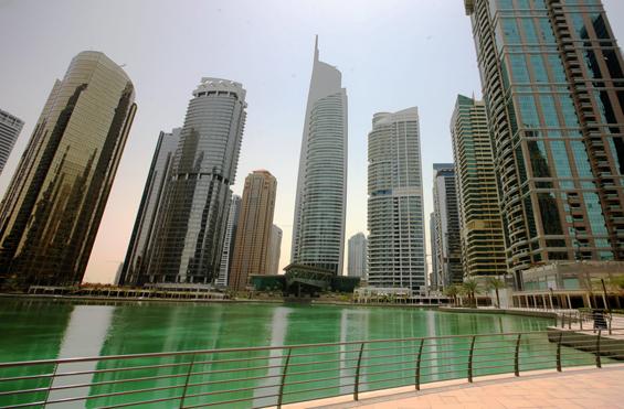 DMCC tower at JLT in Dubai
