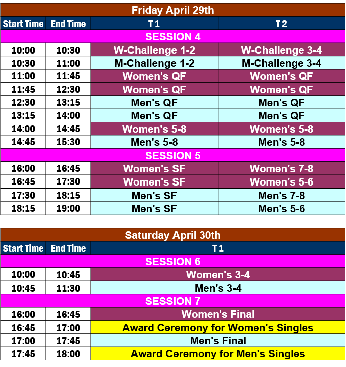 Asian Cup Schedule 2